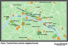 map of paris attractions   Paris Tourism   Sightseeing map of Tourist Paris   Paris Vacation
