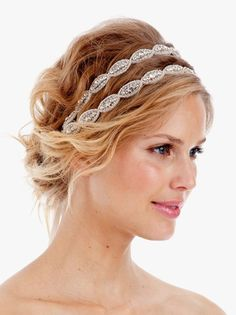 Great headband to dress up a wedding up do