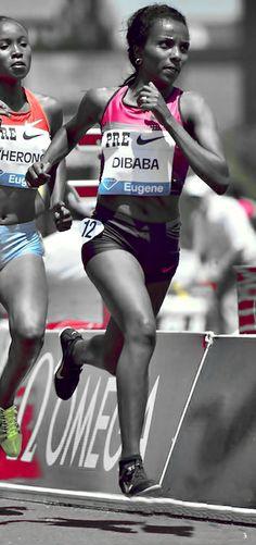 Tirunesh Dibaba (Maratón) atleta etíope especialista en carreras de larga distancia, que ganó los 5.000 y los 10.000 en los Juegos Olímpicos de Pekín 2008 y es la actual plusmarquista mundial de 5.000 metros con 14:11.15, marca lograda en Oslo en 2008. La cualidad que más destaca en Tirunesh Dibaba es su velocidad