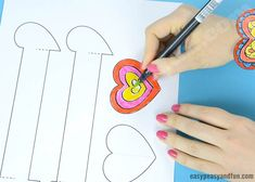 Heart Paper Bracelets for Kids - Printable Template - Easy Peasy and Fun