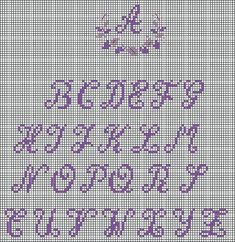 needlework chart (for mini pillow with initial...:)