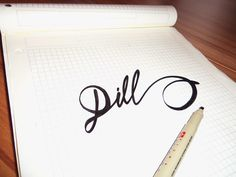 Lettering Sketches Part 2 by Tadas For Sure, via Behance