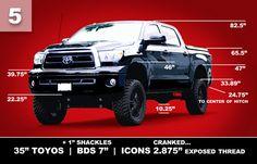 Toyota Tundra Lift Height Visual Guide