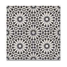 Pack of 12 Agdal Balck and White Handmade Cement/ Granite 8 x 8-inch Floor and Wall Tile (Morocco)
