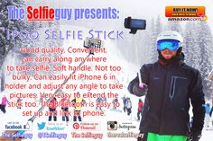 Are you also one of those who regret not capturing all the fun parts of your life? Don't worry, now we offer you the solution to do this ALL BY YOURSELF Ipoq #Selfie Stick enables you to #Capture, #Create and #Share all your #memories worth remembering  http://Go2Azon.com/g/B00TAKNNAA-ISS