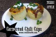 Cornbread Chili Cups Recipe, easy weeknight dinner, #1TexasChili