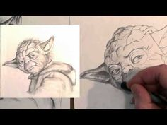 How to Draw Yoda Step by Step. I really, really, really, wish I could draw like that!