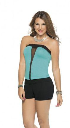 Enterizo strapless | CARMEL - Ropa por catálogo para mujeres y teens