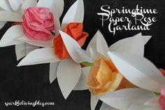 Springtime Paper Rose Garland
