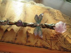 Powerful Dragonfly Wand  Avail on etsy!  https://www.etsy.com/listing/261426271/dragonfly-fairy-crescent-moon-amethyst?ref=shop_home_active_5