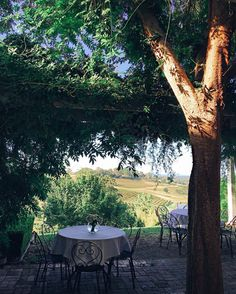 For more piece of the world check http://ift.tt/1RgiXFM girls lunch spot overlooking the vineyards has made me nostalgic for Italy  by tuulavintage
