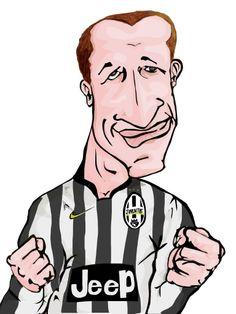 Chiellini juve juventus itali italia futball soccer draw caricature art chile