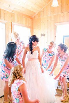 10 Floral Print Bridesmaids Dress