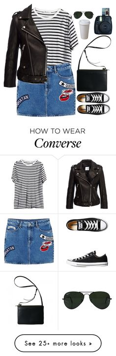 """Untitled #2769"" by wtf-towear on Polyvore featuring T By Alexander Wang, MANGO, Converse, Anine Bing and Ray-Ban"