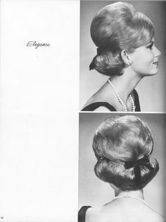 All sizes | 12+Prac+and+Prof+Salon+Styles+Elegance+(a-b) | Flickr - Photo Sharing! Vintage Hairstyles For Long Hair, Retro Hairstyles, 60s Hair, 1960s Outfits, Hot Hair Styles, Hair Creations, Salon Style, Dream Hair, Hair Photo