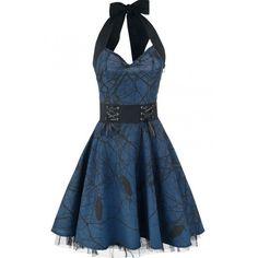 Cette Robe Gothique Rock est facile porter au quotidien ou en soirée, elle complètera votre garde-robe à coup sûr! #Mode #Gothique
