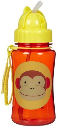 Skip Hop Zoo Straw Bottle - Monkey love this bottle, this will be our second one and the first one is still holding after a year of extensive use, the image on the bottle is scratched off due to wash and use , other wise they ate perfect