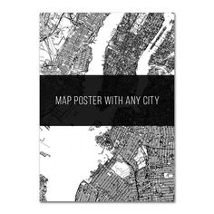 Map poster with New York  #justmaps #map #poster #mapposter #print #gift #постер #affiche #Plakat #affisch