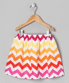 Take a look at this Dapple Gray Designs Sun Chevron Skirt - Infant, Toddler & Girls on zulily today!