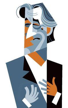 Robert de Niro: You talkin' to me? by Pablo Lobato Character Illustration, Graphic Illustration, Graphic Art, Graphic Design, Caricature Art, Arte Pink Floyd, Celebrity Caricatures, Portraits, Art Graphique