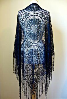 vintage bohemian lace shawl