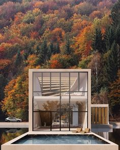 """The Turin-Italy based architecture and design practice WAFAI has designed """"The lake house'' that located in Switzerland. House Plan The CARVER """"B"""" elevation. Parametric Architecture, Residential Architecture, Amazing Architecture, Contemporary Architecture, Interior Architecture, Italy Architecture, Cultural Architecture, Exterior Design, Interior And Exterior"""