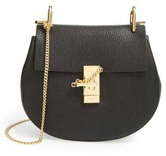 Chloe Drew Leather Shoulder Bag - Black  #affiliate