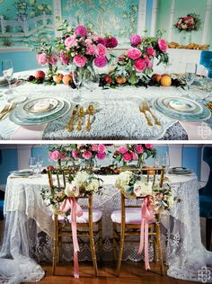 Vintage French table, Rococo influenced - design + flowers: Bows and Arrows // photography: Greg Blomberg // coordination: After Yes