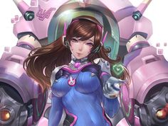 Chen Gart, overwatch fan work(D.VA).