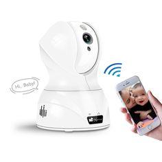 Amazon   EC Technology ベビーモニター ワイヤレス 720P 100万画素 暗視撮影・マイク内蔵通信可能 動体検知 アラーム機能 ペット/子供見守り 日本育児 : Angvns   ベビーモニター オンライン通販
