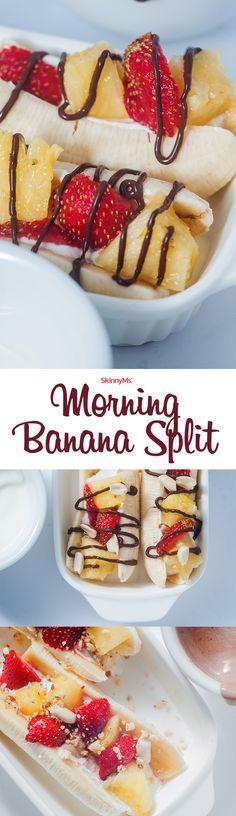 Dessert for breakfast? Yaaaassss!   Morning Banana Split