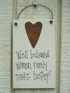 Wood Sign Funny with Rusty Tin Heart Humorous by soshabbyandprim, $3.99