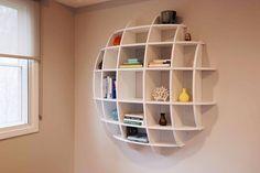 Wall bookshelf via The Last Workshop