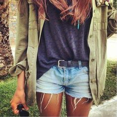 Cutoffs + utility jackets.
