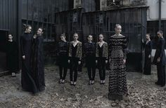 Vogue Italia Supplement September 2012  Editorial: Valentino Haute Couture Fall Winter 2012-13  Photography: Deborah Turbeville