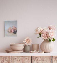 Zarte Beigetöne kombiniert mit softem Rosé sorgt für viel Romantik.