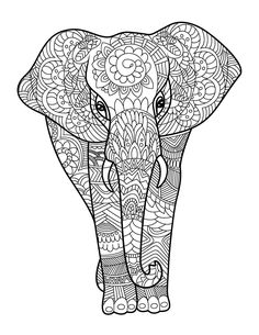 134 Best Coloring Elephants Images Elephants Elephant Coloring