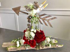 "Rustic Arrow centerpiece, valentines day,Boho baby, wedding decor, baby shower,wild one, tribal baby, Coachella, w-16 1/2""x h-13"" by Rusticredoo on Etsy https://www.etsy.com/listing/566732146/rustic-arrow-centerpiece-valentines"