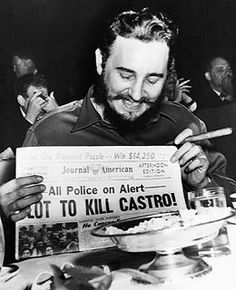In the 1960s the CIA formulated more than 600 plans to assassinate Cuban Prime Minister Fidel Castro. Of particular note were the plans to poison his cigars, and to manufacture explosive ones. And my favourite... attempting to take advantage of Castro's love of scuba diving, the CIA plotted to plant a giant mollusc shell filled with explosives off the coast of Cuba, and paint it bright colours to attract Castro's attention!