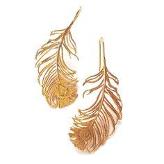 peacock earrings by Alex Monroe