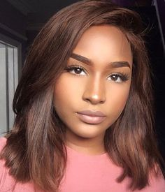 Espresso Base with Hazel Ribbons - 60 Chocolate Brown Hair Color Ideas for Brunettes - The Trending Hairstyle Bob Hairstyles, Straight Hairstyles, Everyday Hairstyles, Protective Hairstyles, Protective Styles, Wave Bob, Curly Hair Styles, Natural Hair Styles, Dyed Natural Hair