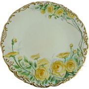 Hand Painted Limoges Plate Tressemann and Vogt (T&V) Antique from ornaments on Ruby Lane
