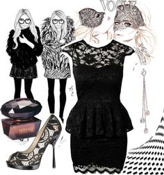 """""""Lace Glam"""" by imaia ❤ liked on Polyvore"""