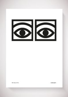 Ögon Cacao - 1956 - One Eye - Black and white 50x70 via Olle Eksell - WELCOME TO THE OFFICIAL WEBSHOP OF THE LEGENDARY SWEDISH DESIGNER OLLE EKSELL (1918-2007). Click on the image to see more!