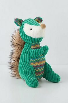Finally they are making squirrel stuffed animals!!! Cuddlesome Squirrel #anthropologie