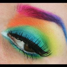 "Such stunning use of color! @Matilda Svensson used Sugarpill and Sleek eyeshadows to create this fun ""Color Explosion"" look."
