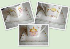 Juego de te - Pintura sobre porcelana