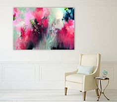 Original abstract painting large painting large acrylic