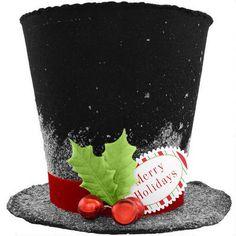 Snowman Top Hat Tree Topper. Cute!
