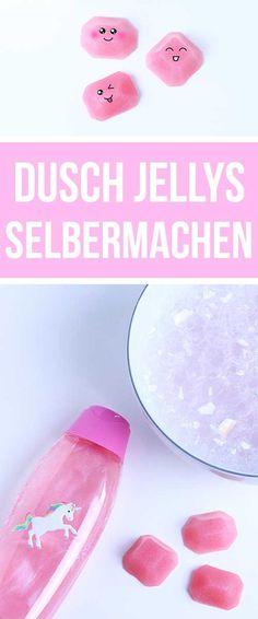 Dusch Jelly selber machen - DIY Geschenke für Valentinstag, Geburtstag, Muttertag, Geschenkidee für Freundin | Vegane Dusch Jellys -  Vegan Shower Jelly